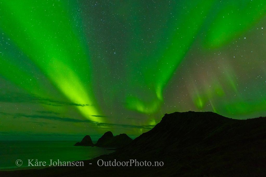 Nordlys over Sandvikbukta