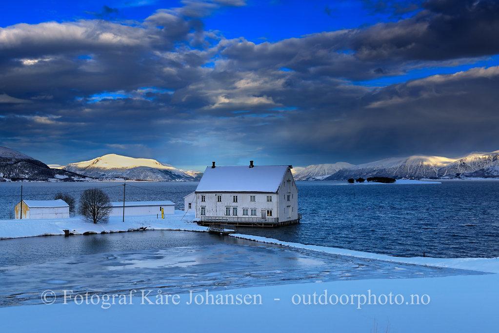 Jennestad Handelssted en kald vinterdag.