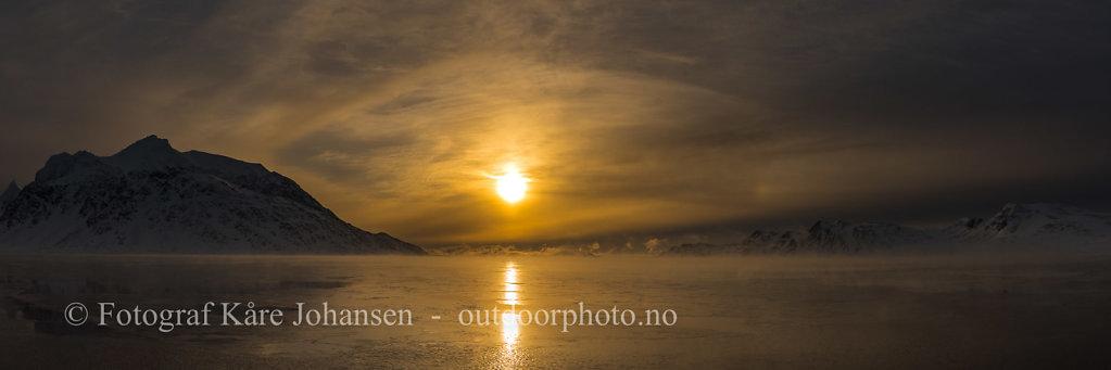 Solnedgang i Sørgattet.
