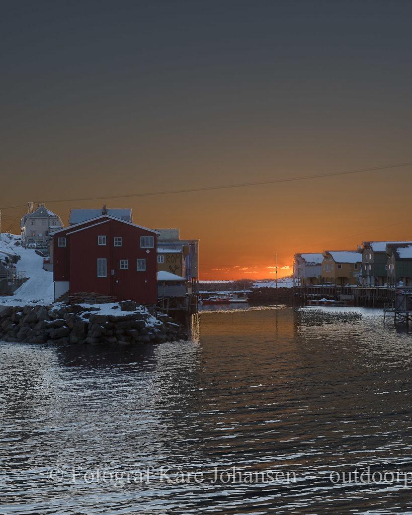 Nyksund i solnedgang II